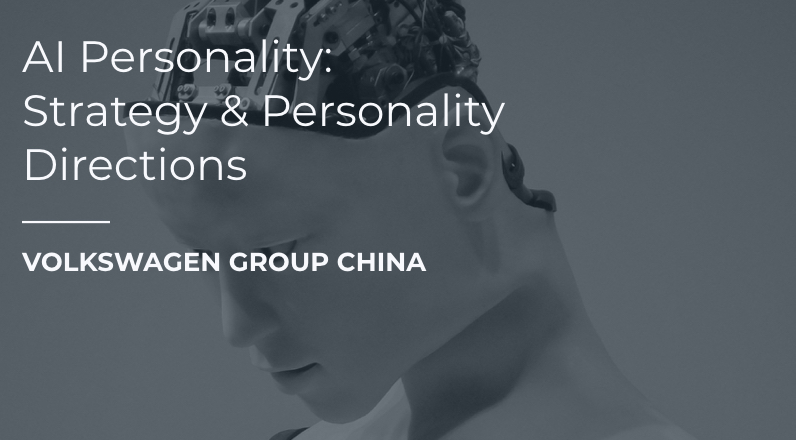 Volkswagen China AI Personality Development